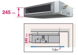 MInh họa 1 - Máy lạnh trung tâm VRV IV S Daikin Giấu trần nối ống gió áp suất trung bình FXSQ-PA