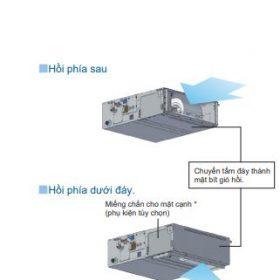 MInh họa 2 280x280 - Máy lạnh trung tâm VRV IV S Daikin Giấu trần nối ống gió áp suất trung bình FXSQ-PA