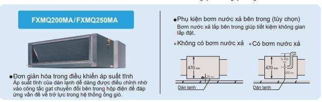 Minh họa 1 1 - Máy lạnh trung tâm VRV IV S Daikin Giấu trần nối ống gió hồi sau FXMQ-PA/M