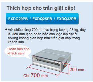 Thiết kế 2 - Máy lạnh trung tâm VRV IV S Daikin Giấu trần nối ống gió dạng mỏng FXDQ-PD/ND