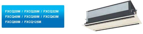 mô hình - Máy lạnh trung tâm Daikin VRV IV Cassette âm trần 2 hướng thổi FXCQ-M