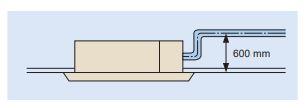 nước ngưng 1 2 - Máy lạnh trung tâm Daikin VRV IV Cassette âm trần 2 hướng thổi FXCQ-M